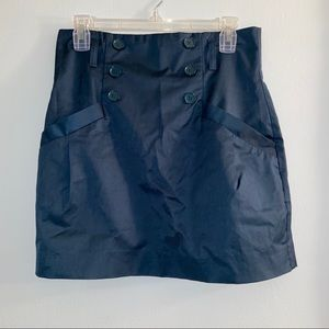 H&M Teal High Waisted Mini Skirt